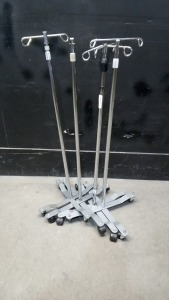 LOT OF IV POLES (QTY. 4)