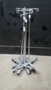 LOT OF IV POLES (QTY. 5)